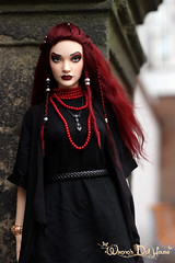 Crimson Witch (wixanawiggova) Tags: doll wig mohair handmade burgundy hair dollwig bjd abjd iplehouse iplehousesid zera janelane