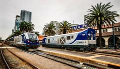 Surfin' Santa Fe (darkprince66 (Tug Chasing Super Hero :D)) Tags: sandiego california amtrak pacificsurfliner siemenscharger 2114 2118 railroad train locomotive