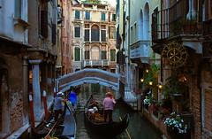 Streets of Venice, Italy (Bokeh & Travel) Tags: venice venezia italia italy architecture canal gondola facade colourful mediterranean