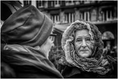 Strasbourg_5853BW (Luc Barré) Tags: strasbourg marché noël alsace bw blackwhite portrait portraits noiretblanc extérieur outdoor visage