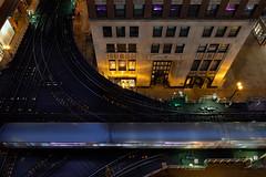 Pink Line | Rush Hour to the Loop (John Leon-Guerrero) Tags: chicago fuji architecture cta loop fujixt2