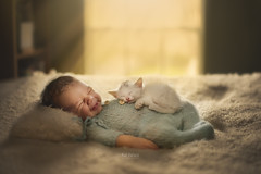 What's better than one smile? Two smiles!! (But Natural Photography) Tags: newborn baby kitten pet boy naturallight texas houston