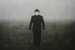 E M P T Y (Ferdinand Bart Alst - Pixel Your Soul Photography) Tags: empty freeyourmind fineart 50mm bowler hat suit fog mist norway norge dark selfportrait expression