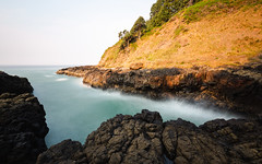 Calming the Waves (John Westrock) Tags: devilschurn longexposure seascape landscape ocean oregon oregoncoast pacificnorthwest pnw canoneos5dmarkiii canonef1635mmf4lis bwnd1000x nature water pacificocean rocks light overcast horizon johnwestrock