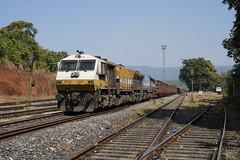 12017 Kulem/Goa,India (Gridboy56) Tags: vellary kulem india goa wdg4 gm emd 12007 12017 locomotive locomotives trains train railways railroad railfreight wagons cargo freight