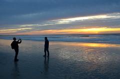 Posing at sunset (afagen) Tags: california pacificgrove asilomarstatebeach montereypeninsula asilomar beach pacificocean ocean sunset dusk photography