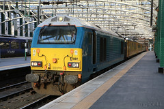 Glasgow Central Measurement Train (60044) Tags: arriva trains wales 67002 db schenker 67018 keithheller top tail network rails plpr mentor test train glasgow central this woring was 1q18 0615 derby rtcnetwork rail mossend down yard class 67 wcml