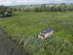 Wetlands (milfodd) Tags: july 2018 aerialphotography quadcopter dji drone phantom4pro wetlands shack