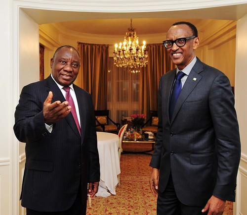 President Cyril Ramaphosa meets African Union Chair and Rwandan President Paul Kagame