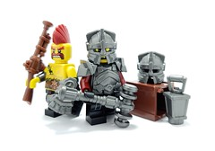 Dwarves are coming! (BrickWarriors - Ryan) Tags: brickwarriors custom lego minifigure weapons helmets armor dwarf hammer dwarven fantasy medieval castle