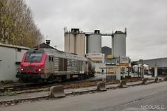 Première tranche faite ! (nicolascbx) Tags: bb75012 ite traindefret train portdegennevilliers tergnier gennevilliers freighttrain freight fret calcia ciment lineas bb75000