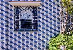 Blue checkered wall (Carlos A. Aviles) Tags: cienfuegos cuba color window ventana azul blue