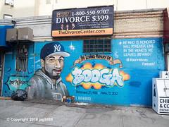 """In Loving Memory of Rudolph Booga Wyatt"" Mural by TATS CRU, East Harlem, New York City (jag9889) Tags: 2018 20181201 bg183 bio board cap eastharlem face graffiti graffitiartist how harlem manhattan memory mural muralist nosm ny nyc newyork newyorkcity newyorkyankees nicer outdoor painting portrait rip sign signboard spanishharlem streetart tagging tatscru text themuralkings usa unitedstates unitedstatesofamerica jag9889"