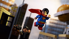 """""""It's getting late, I should go"""" (Andrew Cookston) Tags: lego superman clark kent jimmy olsen lois lane dc comics andrew cookston andrewcookston"""