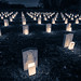 Candles light Confederate graves