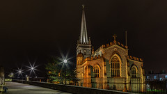 St Columb's Cathedral (jac.photography49) Tags: afterdark astrophotography canon church cathedral derry exposure fullframe ngc images ireland view wideangle night nightscene 5dmkiii lights londonderry northernireland nightsky sky tiltsshift urban walls