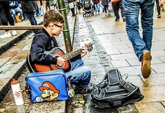 Super Mario (denise.ferley) Tags: supermario mario peopleinthestreet citystreet citylife life guitar peoplewatching norwich thisisengland uk streetbusker streetphotography