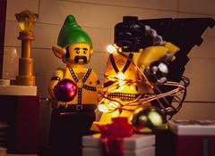 Trimming the Gimp (Chris Blakeley) Tags: christmas gimp bdsm kinky dungeon lego minifigure minifig