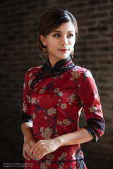 Fion (Francis.Ho) Tags: red fion cheongsam chipao qipao chineseculture xt2 fujifilm girl woman female femme lady portrait people beauty pretty lips eyes hair face chinese elegant glamour young sensuality fashion naturallight cute goddess model asian daylight sunlight