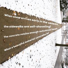 Warm sidewalk (spudart) Tags: glenellyn illinois usa unfiled weather outdoors sidewalk snow words