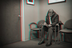 Brooklyn, New York (DDDavid Hazan) Tags: brooklyn newyork doctor doctorsoffice patient corner door chair waiting form people anaglyph 3d 3danaglyph 3dstereophotography redcyan redcyan3d stereophotography stereo3d