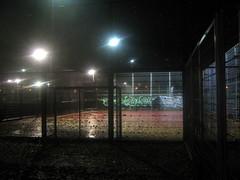 Lit Up Playing Field--02 (Quetzalcoatl002) Tags: playground kunstlicht evening oefenterrein fences lights sports oudzuid amsterdam