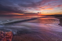 Right place right time  !!! (Through Bri`s Lens) Tags: sussex sunsetreflections lancing worthing hightide reds skies sky colours sea sand rocks leefilters brianspicer canon5dmk3 canon1635f4