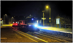 The Illusive Night Freight (Welsh Gold) Tags: 66849 6l39 bridgend ford factory dagenham wagons train night shot cogan valeofglamorganline southwales