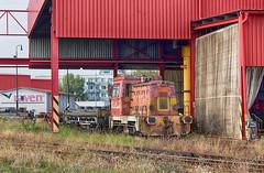 Prasa bratislavské VI. | 703.664 | JUSO | vlečka RAVEN (Armovňa) | BA-Vajnory (lofofor) Tags: diesel 703 664 703664 juso sk sr svk ba slovakia slovensko bratislava raven armovňa vlečka vajnory východ bavýchod priemysel industry podnik hala hutnícka hutníctvo oceľ prasa prasiatko pig locomotive railways rail