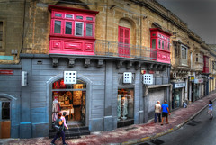 Maltese street (Siuloon) Tags: malta street balconies balkone balkon architektura architettura architecture decor decoration wall texture