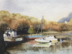 At Rest in Menai. fullsizeoutput_7fa (grumpyward) Tags: anglesey menai watercolour harbour