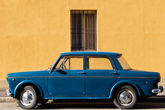 Classic (Giovanni Piero Pellegrini) Tags: italian italia italy car cars fiat blue yellow 1100 1100d classic old vintage historical historic vehicle motor icon