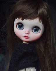 """""""Hope is the thing with feathers  That perches in the soul  And sings the tune without the words  And never stops at all."""" ~ Emily Dickinson #umamibaby #customblythe #blythecustom #artdoll #art #doll #blythe #blythephotography #toyphotography #toyartist # (umami_baby) Tags: instagram blythe umami baby custom art doll faceup customized dolly adoption"""