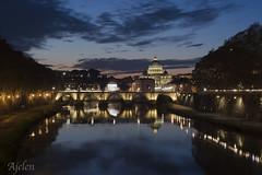 Roma (Ajelen Foto) Tags: lungotevere roma sanpietro tramonto