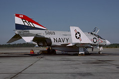 F-4J Phanton 155869 of VF-101 AD-126 (JimLeslie33) Tags: 155869 f4 f4j vf101 ad ad126 bicentennial phantom mcdonnell douglas fighter naval aviation usn navy olympus om1