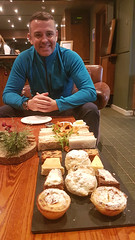 Kevin happy (Donald Morrison) Tags: tea food afternoontea isleofmullhotel isleofmull salen tobermory sea coast autumn scotland highlands