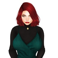 When you're baking a pie at 2pm and your plan for world domination starts at 3pm (Azura Lowbeam) Tags: azura az hottie redhead red ginger secondlife whitebackground people milf sexy curvy busty fitmesh bento necklace dress turtleneck truthhair pinkfuel catya catwa slink slinkhourglass pixicat lipstick kubrickstare