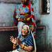 Old Woman Praying, Varanasi India