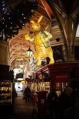 Christmas in Wonderland? (Reckless Times) Tags: lewis caroll alice wonderland christmas rabbit oxford covered market festive lights 100x nikon d750