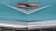 classic chrome (jtr27) Tags: dscf3938xl jtr27 fuji fujifilm xt20 minolta mc rokkor rokkorpf 55mm f17 manualfocus chevrolet chevy belair chrome emblem badge 1956 9passenger