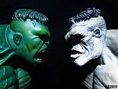 INNER BEASTS (THE AMAZING KIKEMAN) Tags: the incredible hulk immortal bruce banner marvel comics action figures green gray toy biz monster beast within icons