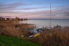 Durgerdam (Julysha) Tags: durgerdam lake ijsselmeer thenetherlands noordholland village evening winter 2019 december nikkor2418 d810 riet tiffenhtndgrad boats grass pier