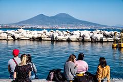 The soul of Naples: sea, sunshine, the Vesuvius and the people! (Mikyy81) Tags: sunshine sea mare vesuvius vesuvio people mediterranean mediterraneo naples napoli campania italy italia fujifilm xt2
