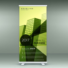 green modern roll up banner stand design with transparent geometric shapes (albanfeti) Tags: banner brochure abstract template marketing presentation promotion corporate professional rollup stand commercial identity modern company business sale advertising roll up layout poster print board display standee stationery