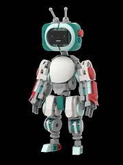 YESman - Retro Colorway (Alex Kelley) Tags: lego moc afol toy design action figure robot mecha mech android character