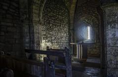 St Aldhelms Chapel, Dorset (Antony Ward UK) Tags: staldhelmschapel dorset church cliff light religion 13th century 800 years old brick stone pew bench cross arch glass stained shine beam st aldhelms chapel