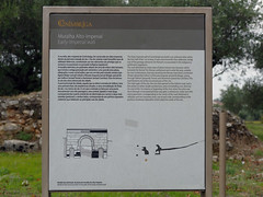 Yacimiento. Muralla Altoimperial (Conimbriga, Portugal) (Juan Alcor) Tags: yacimiento muralla altoimperial conimbriga portugal placa muralha ruinas romanas romano