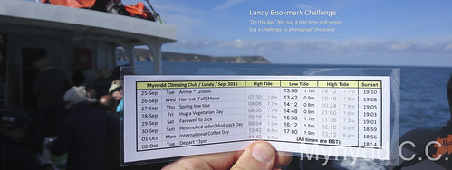 The Lundy Bookmark Challenge