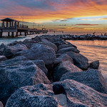 Rocks, Pier, Water and Sky thumbnail