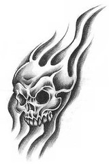 Flame Skull Tattoo # (TattooForAWeek) Tags: flame skull tattoo tattooforaweek temporary tattoos wicker furniture paradise outdoor